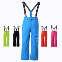 детский утеплённый костюм оптовых-Brand Waterproof Windproof Baby Boys Girls Pants Warm Climbing Trousers Sporty Ski Suit Children Outerwear For 3-14 Years Old