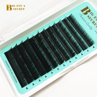 Wholesale individual eyelash extension d curl for sale - Group buy Green Card Logo Individual Eyelash Extension mm Single Length JBCD Curl mmT accept private label