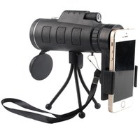 Wholesale hunting vision - 40X60 Monocular Telescope HD Night Vision Prism Scope Portable with Phone Clip for Bird watching hunting