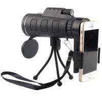 observation des oiseaux au télescope achat en gros de-40X60 télescope monoculaire HD vision nocturne prisme portable avec un clip de téléphone pour la chasse à l'observation des oiseaux