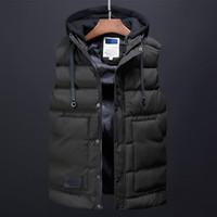 abrigos de chaqueta de vestir coreano al por mayor-Abrigo de invierno para hombre Chaleco de moda Ropa para hombre Streetwear coreano Trench Coat Down Chaquetas Diseñador Vestidos casuales para hombres