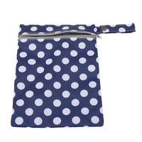 bezler bebek tasarımı yeniden kullanılabilir toptan satış-Yeni Kullanımlık Baskılı Tasarım Bebek Bezi Bezi Islak Çanta Su Geçirmez Bez Bezi Çanta Fermuarlı çanta Ile