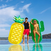 Wholesale swimming air float resale online - Inflatable Giant Swim Pool Floats Raft Swimming Water Fun Sports Seat Beach Toy for Adult Baby Child Air Mattresses Life Buoy