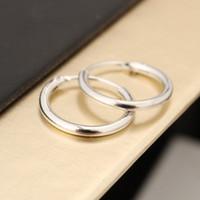 corea llena de oro al por mayor-Corea del Sur pendientes de la joyería Amantes anillo del oído del círculo para las mujeres y los anillos femeninos Hip Hop aro pendientes