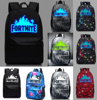 Wholesale Fortnite Cool Night Luminous Backpack School Bags for Boys and Girls Schoolbags for Teenagers Printing School Bagpack Satchel