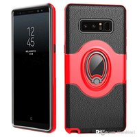 Wholesale hybrid house - For Samsung Galaxy Note 8 (6.3 inch) Shockproof Hybrid Armor Car Magnetic Mount Ring Holder Housing Cover Case