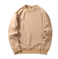 Wholesale comfortable cotton hoodies - The Pure Color Of Man's Hoodies O-neck Long Sleeve Sweatshirt Autumn Winter Comfortable Wear Hoodies