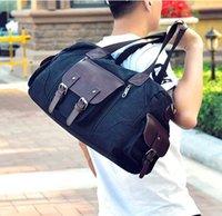 erkek marka seyahat çantası toptan satış-Sıcak 2019 erkek kadın seyahat çantası PU Deri spor çantası marka tasarımcı bagaj çanta büyük kapasiteli spor çanta