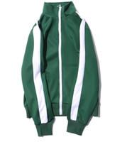 vintage spor giyim toptan satış-Erkek Moda Rahat Fermuar Ceketler Kadın Vintage Retro Patchwork Okul Üniforma Spor Çift Ceket Mont Erkek Kadın Üstleri Artı Boyutu