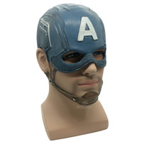 Wholesale mask movie props for sale - Captain America Mask Realistic Superhero Halloween Mask DC Movie Latex Mask Cosplay Costume Props Toys
