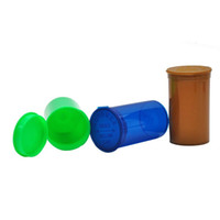 wholesale bottled pop UK - 19 Dram Squeeze Pop Top Bottle for Herb Containers Pill Box Airtight Storage Case Mix Color Random