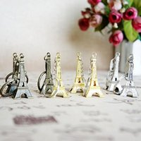 Eiffel Tower Keychain stamped Paris France Gold Sliver Bronze key ring gifts Fashion Wholesales Free shipping