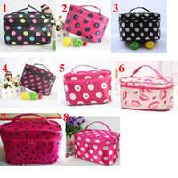 Wholesale Cheap Satin Bags - Hot Sale Many Designs Cheap wholesale Women's Travel Makeup Bag quartet cosmetic Bag DHL Free Shipping