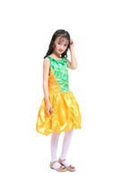 Wholesale children s fancy clothing online - Pumpkin Princess cosplay costume for kids Witch cosplay fancy dress for girl fo Halloween party child clothes