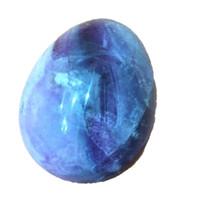 fluorit-kristallkugel großhandel-DingSheng Natürlicher Fluorit Yoni Ei Kristall Quarz Stein Sexy Massage Oval Ball Becken Kegel Übung Vaginalen Anziehen Ball für Frau