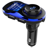 Wholesale hands free mp3 player for sale - 1 inch Screen Degree Rotatable Bluetooth Hands free Car Kit MP3 Player FM Transmitter With Dual USB Charger Car Electronics