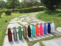 Cola Shaped Bottle Insulated Double Wall Vacuum high-luminance Water Bottle Creative Thermos bottle Coke cups 17 oz