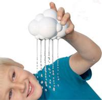 ingrosso giocattolo di caduta dell'acqua-Bambini Baby Bathing Water Toys Sussidi didattici Nuvole di pioggia Gocce d'acqua Nube temporalesca Giocattoli arcobaleno Baby Bath Shower Toys