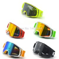 Wholesale cross country goggles resale online - New Goggle Tinted UV Stripe Motorcycle Goggles Motocross Bike Cross Country Flexible Goggles Snow Ski Lunette