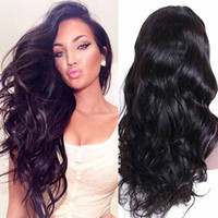 Wholesale human hair lace wigs unprocessed for sale - Unprocessed Brazilian Human Hair Wigs for Black Women Brazilian Body Wave Pre Plucked Natural Hairline Lace Front Wigs With Baby Hair