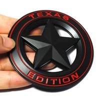 Wholesale jeep cherokee stickers - 3D Metal TEXAS EDITION Shield Pentagram Emblem Badge Car Fender Side Tail Body Sticker for JEEP Wrangler Liberty Grand Cherokee