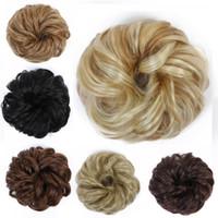 extensiones de peluca rizada al por mayor-WTB Donut Hair Chignons Peluca Peluca Piezas de cabello para mujer Extensiones Ondulado Curly Donut Braiders Extensiones