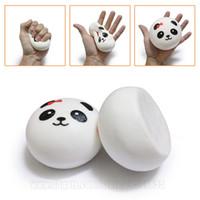 jumbo panda bun squishy venda por atacado-Estilo Simplicidade Squishy Panda Squishies Bun 10 cm Jumbo Lento Rising Strap Telefone Grande Pão DHL Frete Grátis SQU049