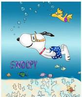 céu voando venda por atacado-Snoopy dos desenhos animados, poliéster, cortina de chuveiro do banheiro, cortina de tecido, cortina fina, 12 ganchos 12 anéis, à prova d 'água, 180 cm 71' '* 71'