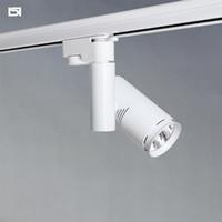 Wholesale 12v Track Lights - iSL LED track spotlights rail light surface mounted ceiling lamps 10W 20W spot exterior ceiling 12v 240V white black backlight