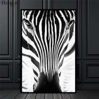 ingrosso tela di olio di zebra-ZYXIAO Big Size Poster e stampe animali zebra Pittura a olio su tela No Frame Immagini a parete per soggiorno Decorazione della casa ys0033