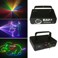 Wholesale 3d Lasers Rgb - Mini 1.2w RGB laser 3D animation scanner projector ILDA DMX dance bar Xmas Party Disco DJ effect Light stage Lights Show system