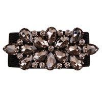 casaco de pele de diamante negro venda por atacado-2017 new arrival high-end de luxo diamante negro de cristal gemstone elástico cintos femininos casacos de pele feminina para baixo cintos para as mulheres