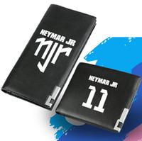 billeteras de fútbol al por mayor-Neymar billetera JR 11 monedero Football Njr caja larga larga de cuero con billetes. Billete de dinero. Bolso burse de cambio suelto Portatarjetas