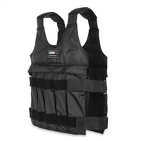 Wholesale weight vests - 50kgLoading Weighted Vest For Boxing Running Training Body Equipment Adjustable Exercise Vest Black Jacket Swat Sanda Sparring Protect