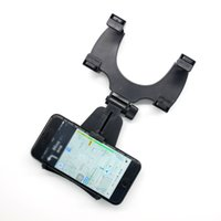Wholesale Abs Gps - Universal ABS Adjustment for Optimal Viewing Shock Resistant Slip Resistant Car Rearview Mirror Mount Holder Stand Cradle For Cell Phone GPS