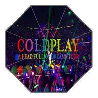 Wholesale umbrellas custom - Coldplay Umbrella Custom Printing Foldable Sun Rain Travel Umbrella Non-Automatic Decorative High-Quality