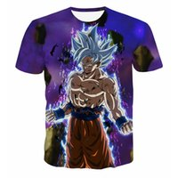 Wholesale mens galaxy t shirt - 2018 New Anime Dragon Ball Z Galaxy Goku 3D T shirts Printed Mens Womens 3d Tee shirts Casual T-shirts Tops