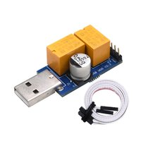 Wholesale gaming electronics - Doubel Relay USB Watchdog Card module Automatic Restart IP Electronic Watchdog Timer Reboot Lan For Mining Gaming Computer PC OTH820