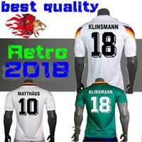 1990 1994 1988 Alemanha Versão retro VINTAGE CLASSIC Camisola de futebol  KLINSMANN 18 Matthias 10 em casa agora 2018 camisas JERSEY S-XXL de922682d4e42