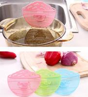 cor de arroz venda por atacado-Sorria Rosto Forma Filtro Pode Tipo Clipe Drenador De Arroz Plástico Lavar Peneira Durável Multi Color 1 75jm C