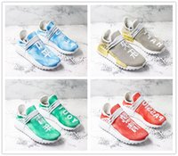 coleção feliz venda por atacado-Pharrell x NMD Raça Humana China Coleção Exclusiva homens Sapatos Ao Ar Livre Esportes Sapatilha Ouro Azul Verde Paz Verde Juventude Vermelho sapatos de Paixão