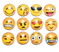 nachrichteninhaber großhandel-Glaskuppel Runde Nette Lächeln Emoji Gesicht Ausdrücke Kühlschrank Aufkleber Kühlschrankmagnet Für Kinder Nachricht Halter Wohnkultur