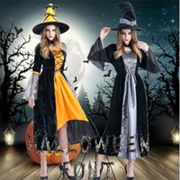 free vampire movie NZ - free custom cosplay costume adult Halloween costume Female witch costume party dress Vampire spider witch skirt Women