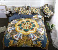 Wholesale 3d king bedspread resale online - Ethnic Style Bedding Sets Ethnic Art Printing Duvet Cover Set Pillowcase King Queen Size Bedlinen bedspread