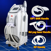 Wholesale nd yag laser tattoo - 2018 3 In 1 Multi-functional OPT SHR IPL Hair Removal elight Skin Rejuvenation ND YAG Laser Tattoo Removal Facial Machine Beauty Machine