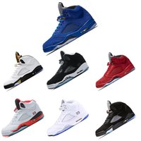 Wholesale shoe air camo - 2018 trainer 5 OG Black Metallic Mens Basketball Shoes men camo Oreo bel air metallic black white grape 5s sports shoes sneakers