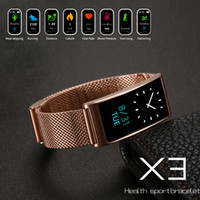 Wholesale metal smart watches - Multifunction X3 Waterproof Smart Watches Heart Rate Test Metal Watch Band Bluetooth For Phone Sport Swimming GPS Pedometer