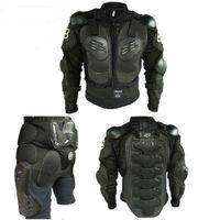 vestes de moto rembourrées achat en gros de-Armure de moto Hommes Protection du corps Garde d'armure de motocross Armure de moto complète du corps Veste + genouillères 1 ensemble