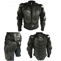 ingrosso giacca armatura completa del corpo-Moto Armatura Uomo Protezione Body Guard Motocross Armatura Moto full body armatura Jacket + knee pads 1 set insieme