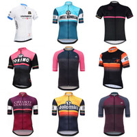 Wholesale lycra shirts men - Tour de Italy 2018 Pro Men Team Cycling Short Sleeve Jersey Bike Sportwear Top Shirts Summer Bicycle Clothing ropa maillot Ciclismo C2303